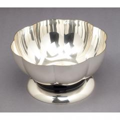 Silvered Bowl by Orfevrerie Gallia France 1930s - 1083729
