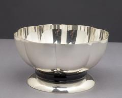 Silvered Bowl by Orfevrerie Gallia France 1930s - 1083731