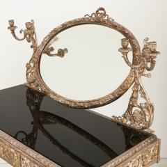 Silvered bronze and mirrored antique French dressing table - 2057841
