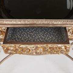 Silvered bronze and mirrored antique French dressing table - 2057849