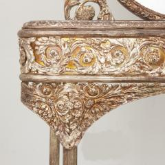 Silvered bronze and mirrored antique French dressing table - 2057851