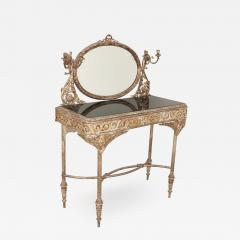Silvered bronze and mirrored antique French dressing table - 2064786