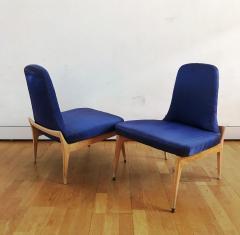 Silvio Cavatorta 1950s Pair of Side Chairs by Silvio Cavatorta - 353158