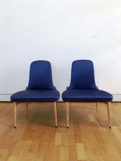 Silvio Cavatorta 1950s Pair of Side Chairs by Silvio Cavatorta - 353159