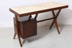 Silvio Cavatorta Italia Modern Mahogany and Parchment Desk Silvio Cavatorta - 373193