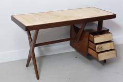 Silvio Cavatorta Italia Modern Mahogany and Parchment Desk Silvio Cavatorta - 373196