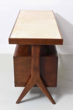 Silvio Cavatorta Italia Modern Mahogany and Parchment Desk Silvio Cavatorta - 373198