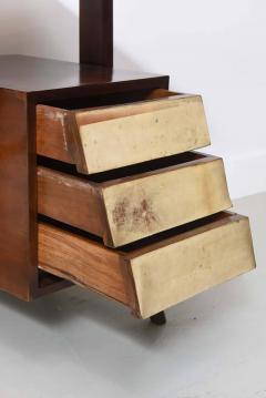 Silvio Cavatorta Italia Modern Mahogany and Parchment Desk Silvio Cavatorta - 373199