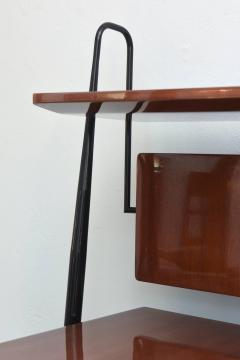 Silvio Cavatorta Italian Modern Mahogany and Brass Bar Cabinet or Bookcase Silvio Cavatorta - 388244
