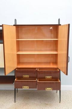 Silvio Cavatorta Italian Modern Mahogany and Brass Bar Cabinet or Bookcase Silvio Cavatorta - 388251