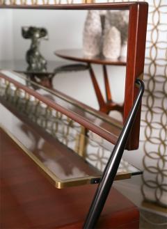 Silvio Cavatorta Pair of Italian Modern Mahogany Brass and Iron Sideboards Silvio Cavatorta - 379654