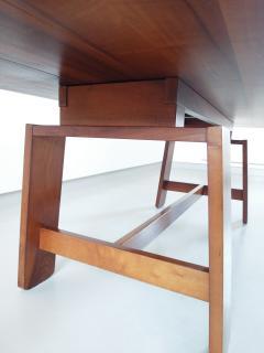Silvio Coppola Large Mahogany Dining Table By Silvio Coppola Bernini Italy  1964   505301