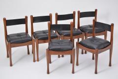 Silvio Coppola Set of six Italian Dining Chairs by Silvio Coppola for Bernini - 893343