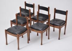 Silvio Coppola Set of six Italian Dining Chairs by Silvio Coppola for Bernini - 893346