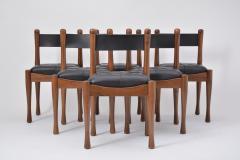 Silvio Coppola Set of six Italian Dining Chairs by Silvio Coppola for Bernini - 893375