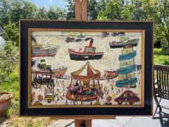 Simeon Stafford Fun Fair On The Harbour Wall by Simeon Stafford - 2030445