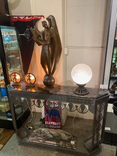 Simonet Freres Simonet Freres French Glass Table Lamp or Ceiling Light - 1601067