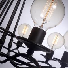 Simple and Elegant Eight Bulb Chandelier - 950989