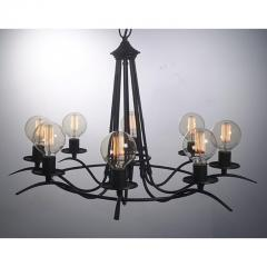 Simple and Elegant Eight Bulb Chandelier - 950990