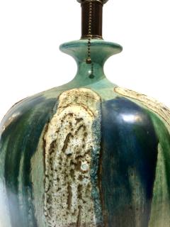Single Glazed Ceramic Mid Century Lamp - 1164256