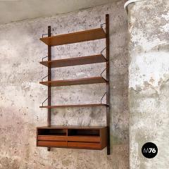 Single teak wall bookcase 1960s - 2102683