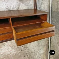 Single teak wall bookcase 1960s - 2102772