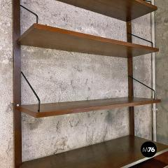 Single teak wall bookcase 1960s - 2102775