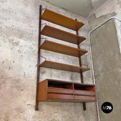 Single teak wall bookcase 1960s - 2102777