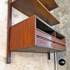 Single teak wall bookcase 1960s - 2102788