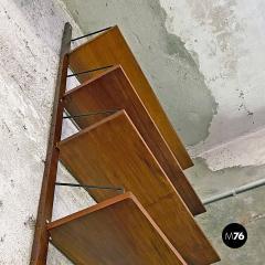 Single teak wall bookcase 1960s - 2102793