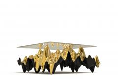 Sinusoid Coffee Table Polished Cast Bronze - 1397998