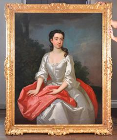 Sir Godfrey Kneller Portrait of Isabella Marshall Very Large 18th Century Georgian Oil Painting - 2053660