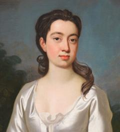 Sir Godfrey Kneller Portrait of Isabella Marshall Very Large 18th Century Georgian Oil Painting - 2053665