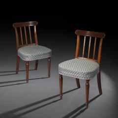 Sir John Soane Set of Six 19th Century English Georgian Mahogany Dining Chairs - 1010599