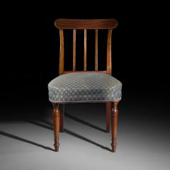 Sir John Soane Set of Six 19th Century English Georgian Mahogany Dining Chairs - 1010600