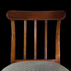 Sir John Soane Set of Six 19th Century English Georgian Mahogany Dining Chairs - 1010604