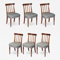 Sir John Soane Set of Six 19th Century English Georgian Mahogany Dining Chairs - 1011280