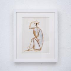 Sitting monkey gouache by Henri Samouilov - 1979064