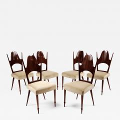 Six Dining Chairs Italy 1950s - 170946