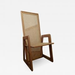 Six Italian Wood and Vienna straw ArmChairs 60s - 986484