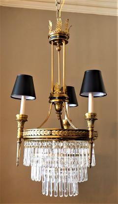 Six Light Louis XVI Style Chandelier - 1064156