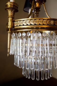 Six Light Louis XVI Style Chandelier - 1064162