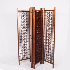 Six Panel Teak Screen Room Divider - 664868