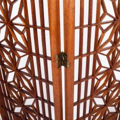Six Panel Teak Screen Room Divider - 664869