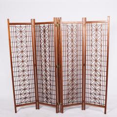 Six Panel Teak Screen Room Divider - 664870