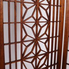 Six Panel Teak Screen Room Divider - 664871