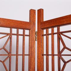 Six Panel Teak Screen Room Divider - 664874