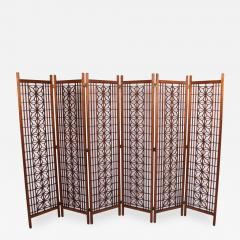 Six Panel Teak Screen Room Divider - 681609
