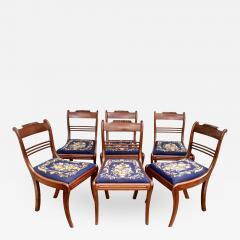 Six Philadelphia Klismos Dining Chairs - 1465501