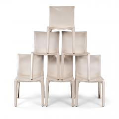 Six White Mario Bellini Cab 412 Side Chairs - 1507335